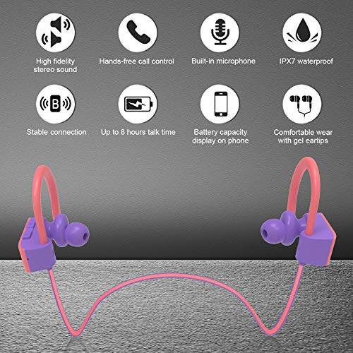 letscom bluetooth headphones ipx7 picture 1 - LETSCOM Bluetooth Headphones IPX7