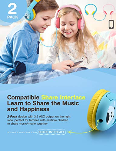 mpow 2 pack kids headphones picture 01 - Mpow (2-Pack) Kids Headphones