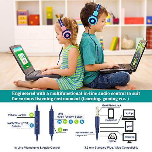 simolio kids headphones bluetooth image 4 - SIMOLIO Kids Headphones Bluetooth