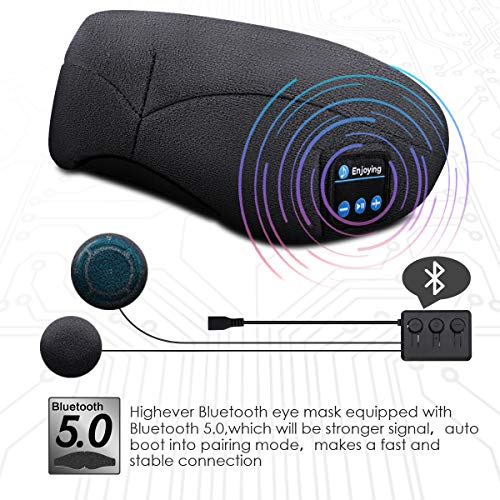 sleep mask headphones bluetooth image 01 - Sleep Mask Headphones, Bluetooth