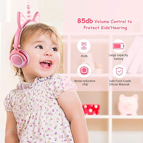 unicorn headphones for kids image 001 - Unicorn Headphones for Kids,