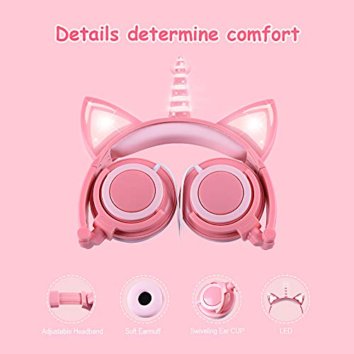 unicorn headphones for kids image 02 - Unicorn Headphones for Kids,