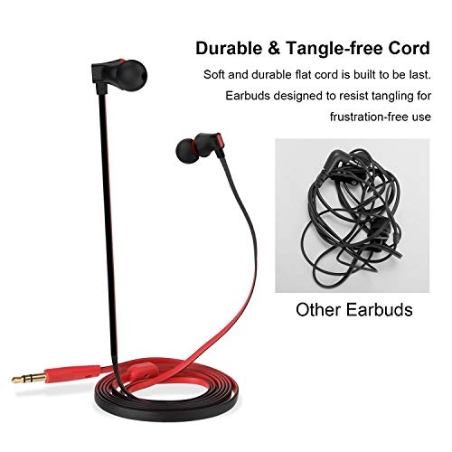 earbuds vogek tangle free flat picture 2 - Earbuds, Vogek Tangle-Free Flat