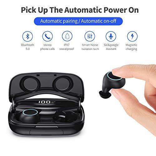 wireless earbuds bluetooth 50 image 001 - Wireless Earbuds, Bluetooth 5.0