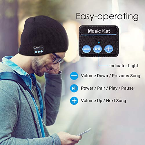 bluetooth beanie rechargeable mens picture 02 - Bluetooth Beanie, Rechargeable Mens