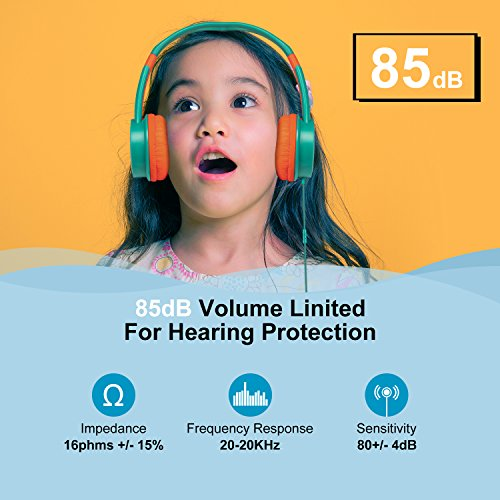 huoto kids headphoneswired headphone photo 1 - HUOTO Kids Headphones,Wired Headphone