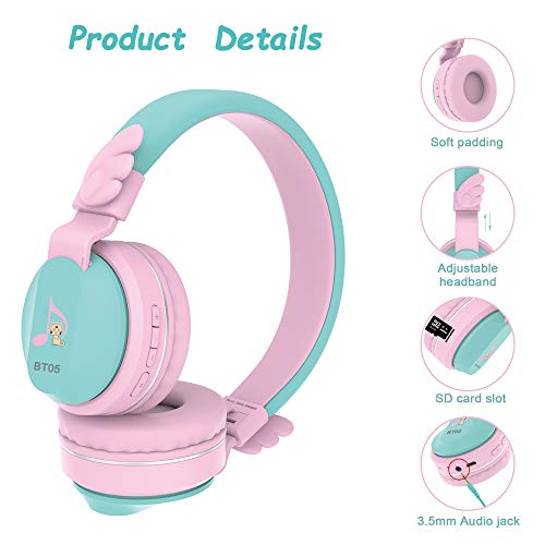 kids headphones riwbox bt05 image 2 - Kids Headphones, Riwbox BT05