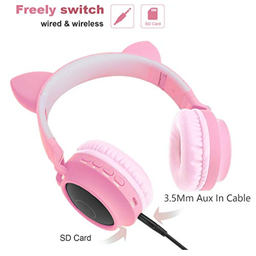 kids wireless headphones cat image 1 - Kids Wireless Headphones Cat