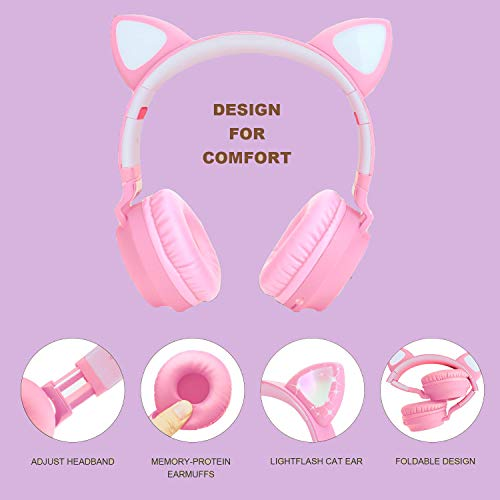 kids wireless headphones cat picture 02 - Kids Wireless Headphones Cat