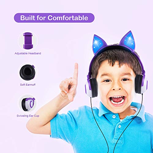 kids headphones cat ear image 002 - Kids Headphones Cat Ear