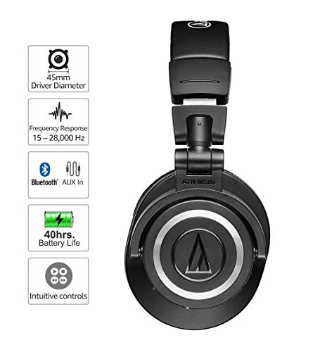 audio technica ath m50xbt wireless bluetooth picture 001 - Audio-Technica ATH-M50xBT Wireless Bluetooth