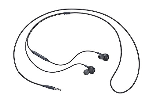 (2 Pack) Aux Headphones/Earphones/Earbuds, ebasy 3.5mm Aux Wired in-Ear Headphones with Mic and Remote Control for Samsung Galaxy S9 S8 S7 S6 S5 Edge + Note 5 6 7 8 9 and More Android Devices(Black)