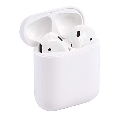 Apple MMEF2AM/A AirPods Wireless Bluetooth Headset for iPhones with iOS 10 or Later White – (Renewed)
