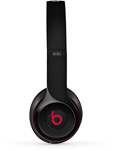 Beats by Dr. Dre Solo2 Bluetooth Wireless On-Ear Headphone with Mic – Black (Renewed)