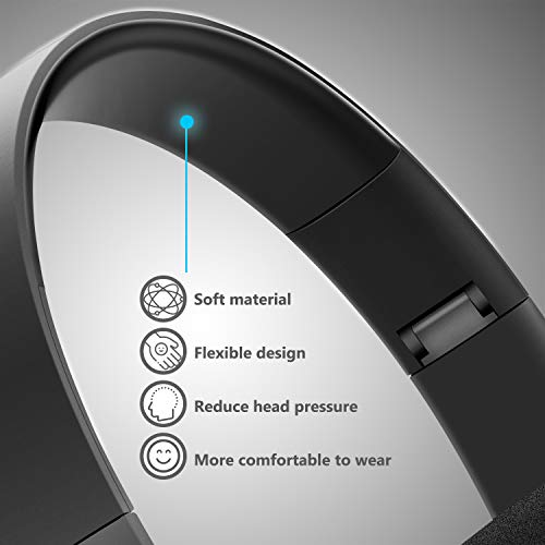 JunDa Bluetooth Wireless Headphones Headset with Mic Foldable Deep Bass Gaming Noise Reduction Over Ear10 Hour Playtime