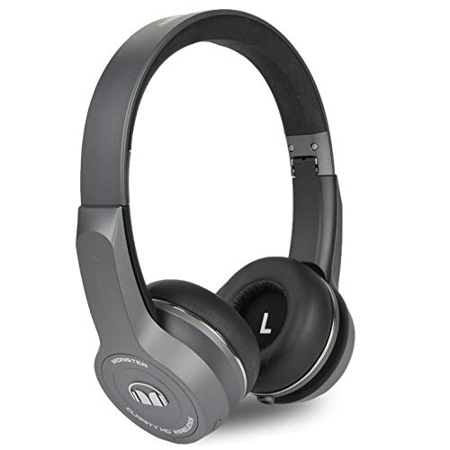 Monster Clarityhd Bluetooth Wireless Foldable On Ear Headphones W/Touch Controls – Gray