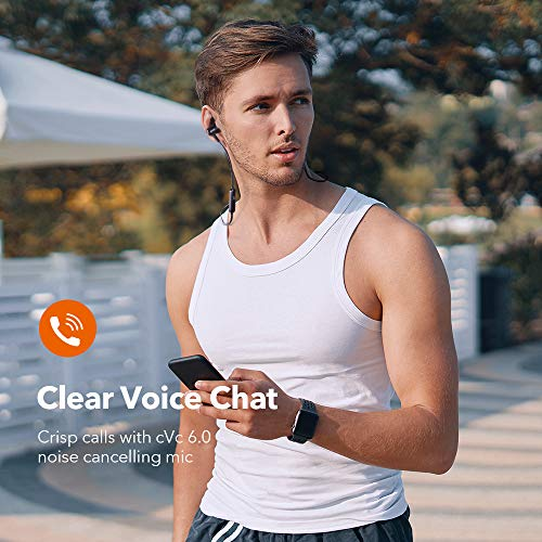 Bluetooth Headphones TaoTronics Wireless Earbuds Sport Earphones 9 Hours 4.2 Magnetic Lightweight & Fast Pairing (CVC 6.0 Noise Cancelling Mic, Snug Silicon Earbuds, Magnetic Design)