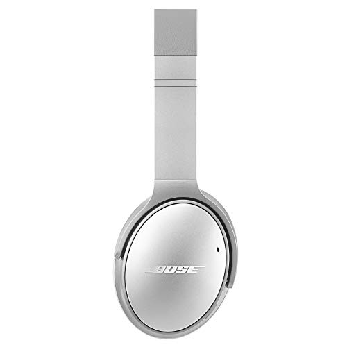 Bose QuietComfort 35 II Wireless Bluetooth Headphones, Noise-Cancelling, with Alexa voice control, enabled with Bose AR – Silver, One Size – 789564-0020