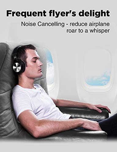 COWIN E7 PRO [Upgraded] Active Noise Cancelling Headphones Bluetooth Headphones with Microphone/Deep Bass Wireless Headphones Over Ear 30H Playtime for Travel/Work/TV/Computer/Cellphone – Black