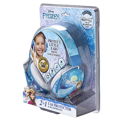 Frozen Kids Ear Protectors Earmuffs Toddler Ear Protection and Headphones 2 in 1 Noise Reduction and Headphones for Kids Ultra Lightweight Adjustable Safe Sound Great for Concerts Shows and More